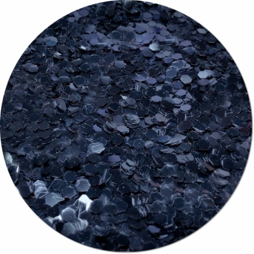 Black Shadow Craft Glitter (colossal flake)- 3/4 oz Jar