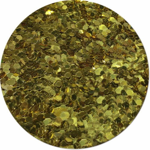 Gold Bullion Craft Glitter (colossal flake)- 8 oz. Jar