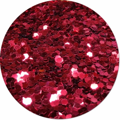 Red Apple Radiance Craft Glitter (colossal flake)- 8 oz. Jar