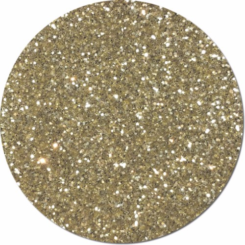 Champagne Craft Glitter (chunky flake)- 4 oz. Jar