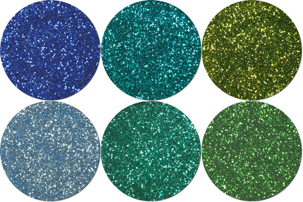 Cool Palette Craft Glitter Assortment  (6 colors)