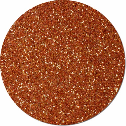 Coppered Orange Craft Glitter (fine flake)- 3/4 oz Jar
