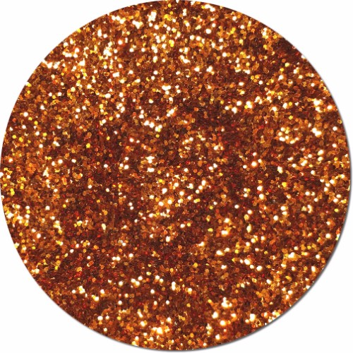 Coppered Orange Craft Glitter (chunky flake)- 3/4 oz Jar