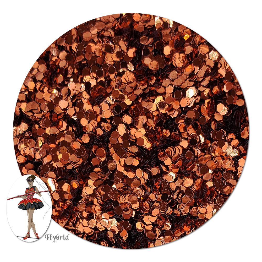 Copperflame Metallic Hybrid Glitter (chunky)- 8 oz. Jar