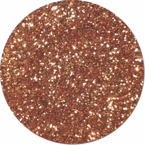Copper Glitz Craft Glitter (chunky flake)- 3/4 oz Jar