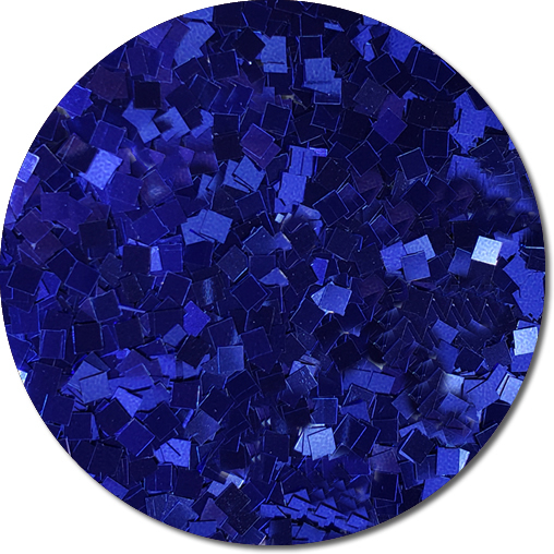 Crystalline Cobalt Craft Glitter (Colossal Squares)- 3/4 oz Jar