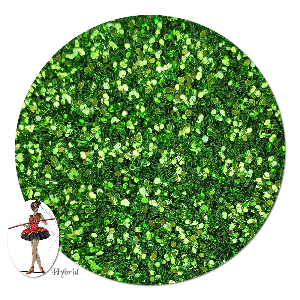 Gleaming Green Metallic Hybrid Glitter (fine)- By The Pound