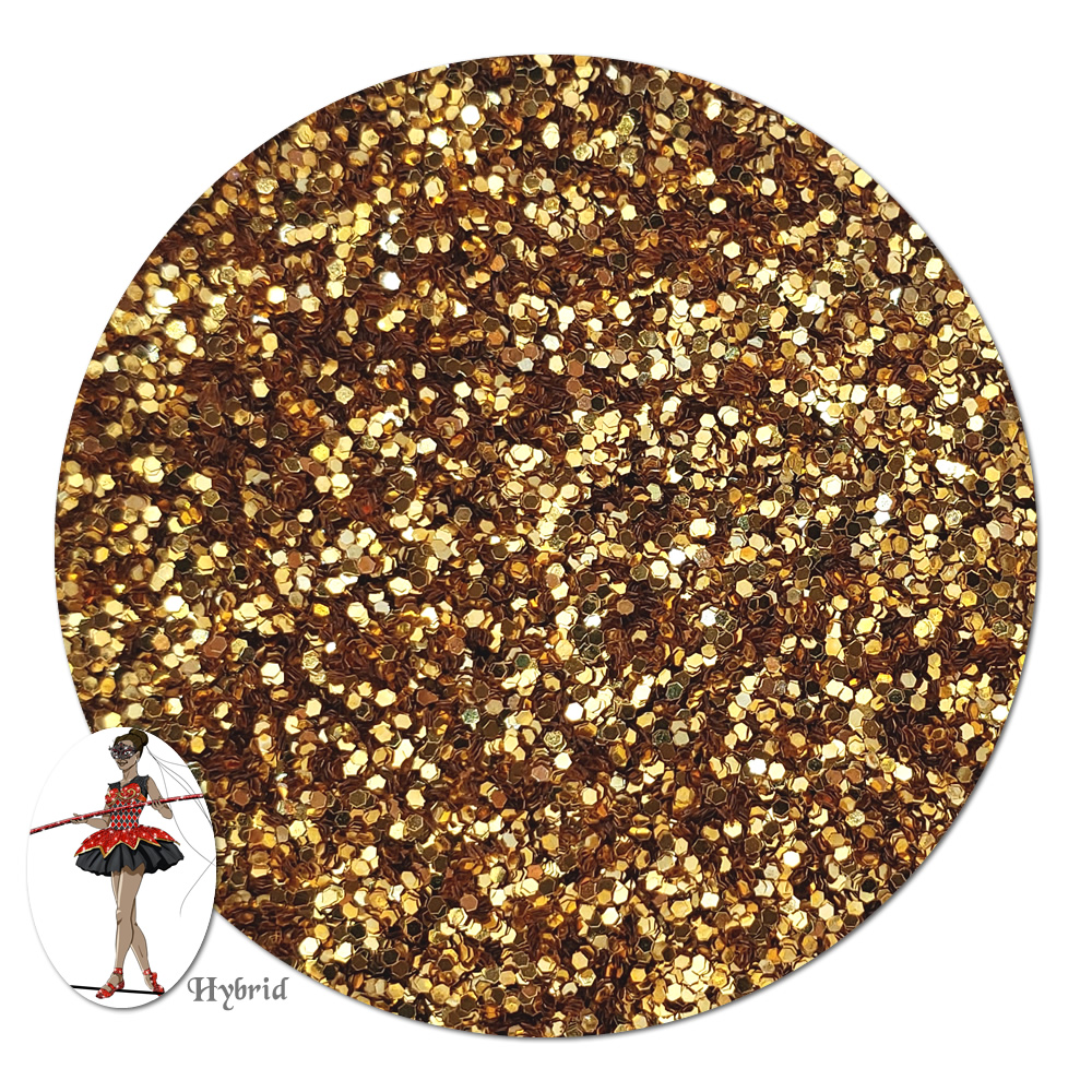 Gold Star Metallic Hybrid Glitter (fine)- 3/4 oz Jar