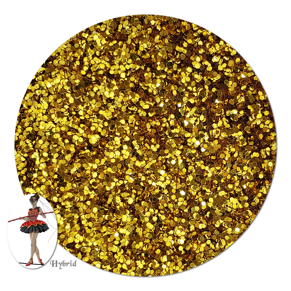 Golden Sunrise Metallic Hybrid Glitter (fine)- 4 oz. Jar