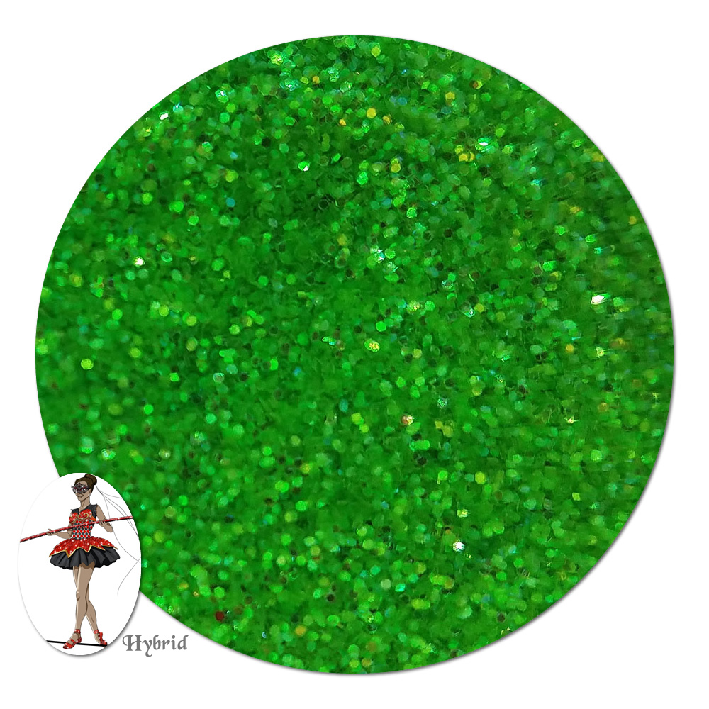 Green Goddess Iridescent Hybrid Glitter (fine)- 3/4 oz Jar