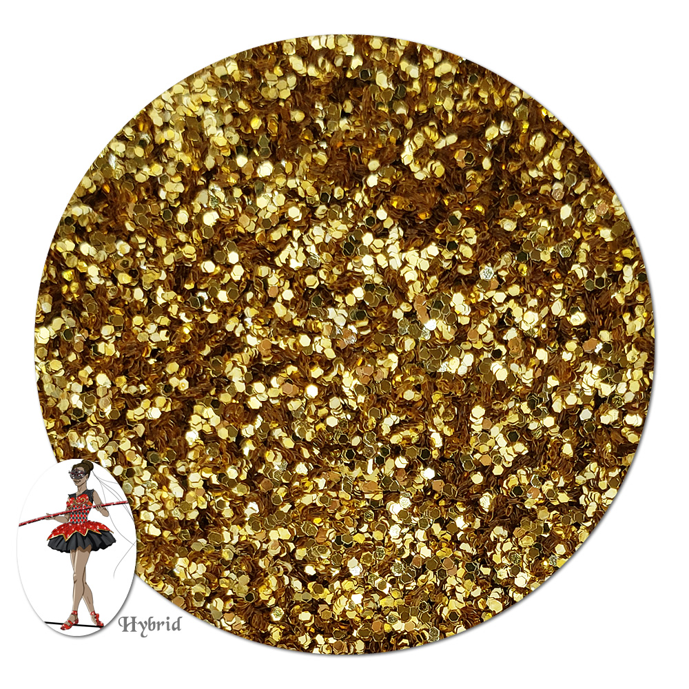 Honorguard Gold Metallic Hybrid Glitter (fine)- 3/4 oz Jar