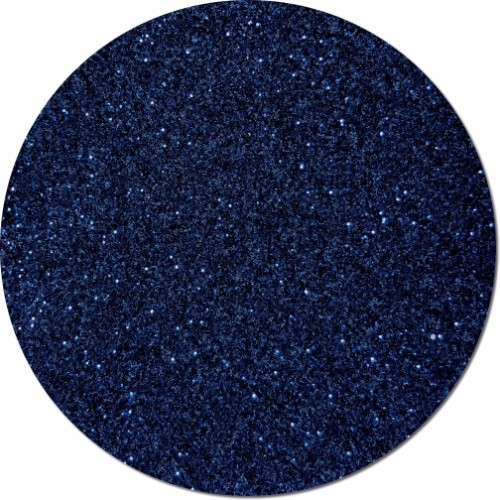 Midnight Blue Craft Glitter (fine flake)- 3/4 oz Jar