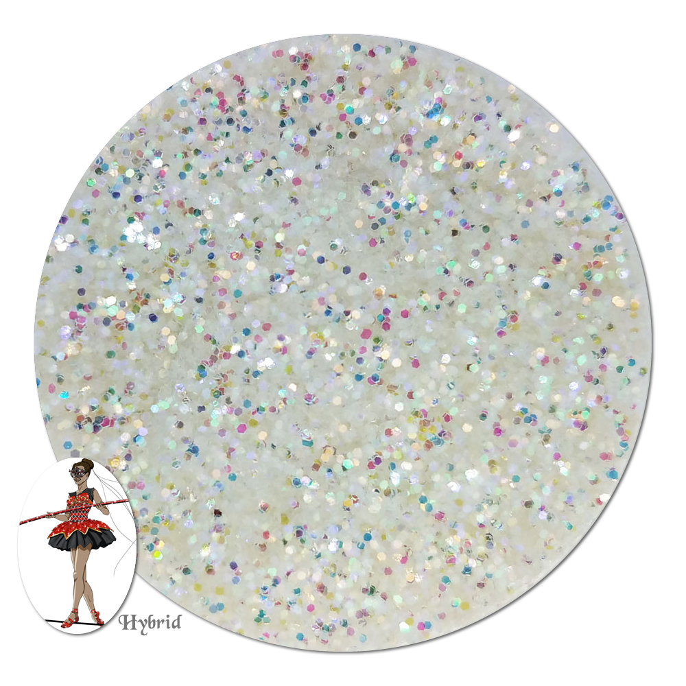 White Whisper Iridescent Hybrid Glitter (fine)- 3/4 oz Jar