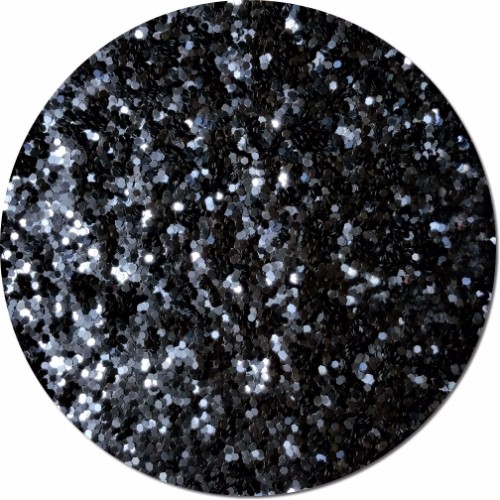 Black Shadow Craft Glitter (Fat flake)- 3/4 oz Jar