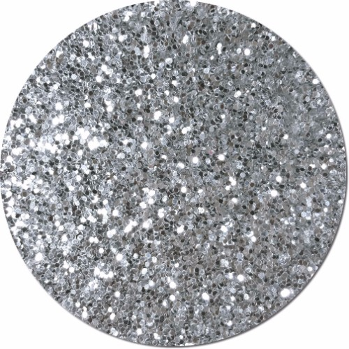 Silver Moonlight Craft Glitter (Fat flake)- 3/4 oz Jar