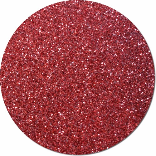 Gala Red Craft Glitter (fine flake)- 3/4 oz Jar