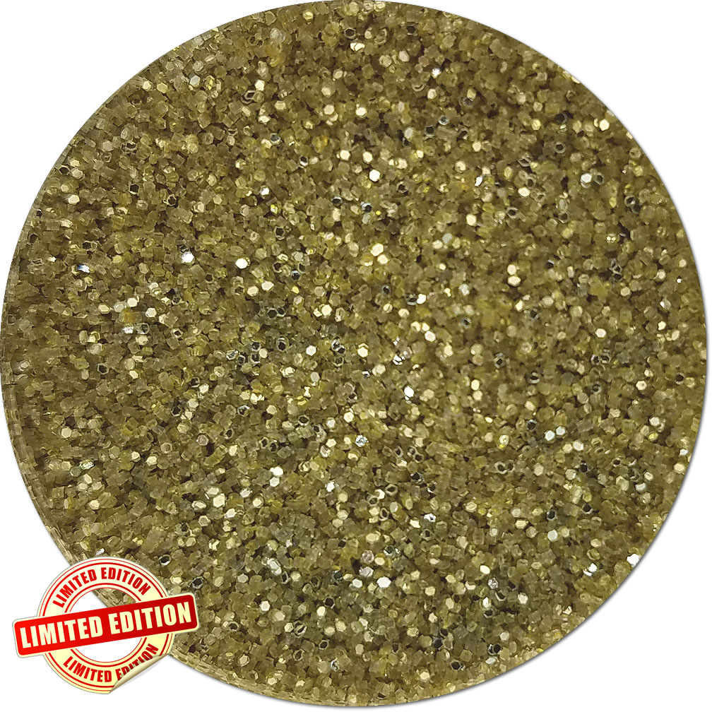 Golden 88 Craft Glitter (fine flake)- 3/4 oz Jar