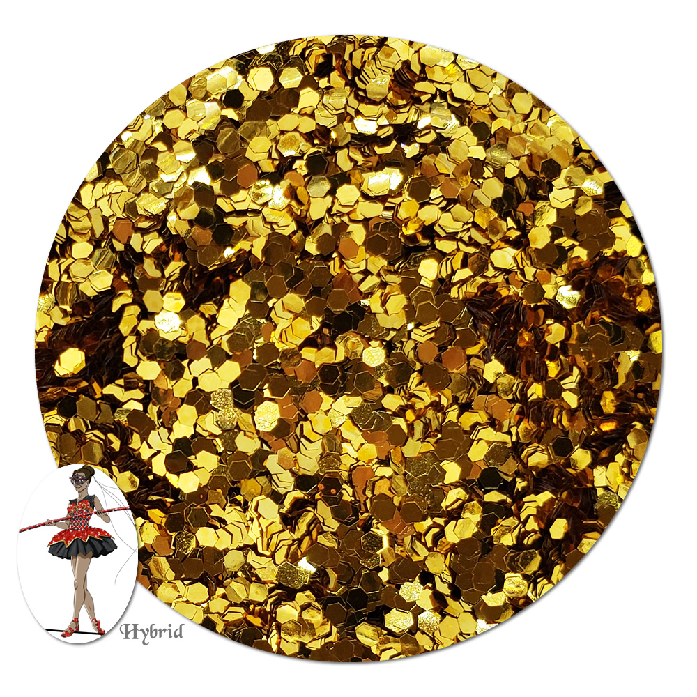 Golden Sunrise Metallic Hybrid Glitter (chunky)- 4 oz. Jar