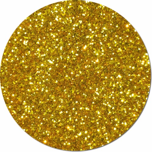 Gold Rush Craft Glitter (chunky flake)- 3/4 oz Jar