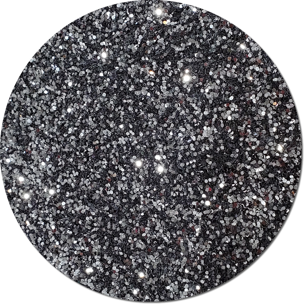Gunmetal Grey Craft Glitter (chunky flake)- 3/4 oz Jar