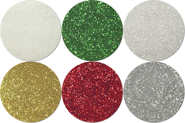 Holiday Craft Glitter Assortment  (6 colors)