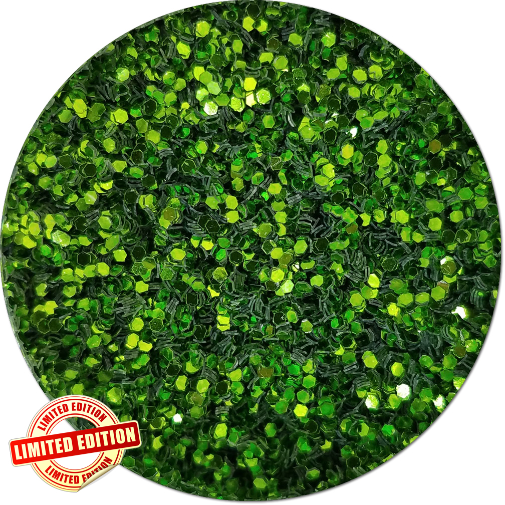 Z Hyperion Green Craft Glitter (chunky flake)- By The Pound