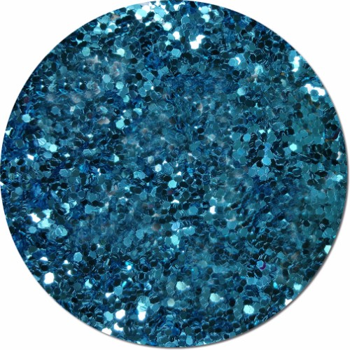 Blue Dazzle Craft Glitter (Jumbo flake)- 8 oz. Jar