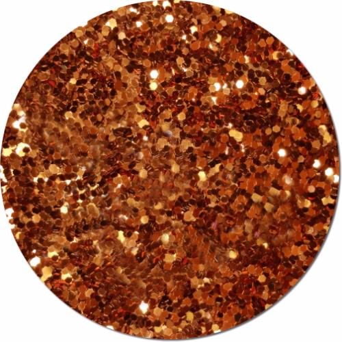 Carrot Orange Craft Glitter (Jumbo flake)- 4 oz. Jar