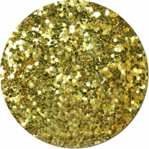Gold Bullion Craft Glitter (Jumbo flake)- 8 oz. Jar