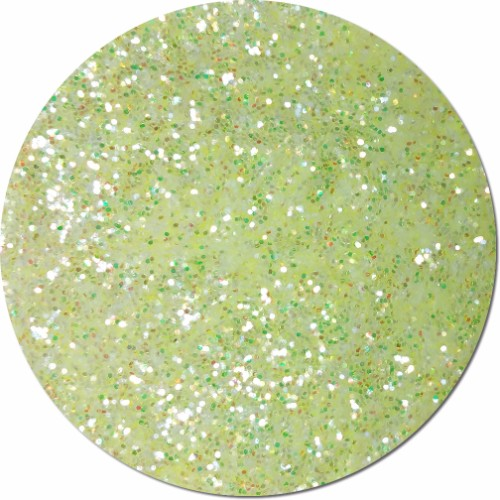 Lemon Freeze Iridescent Craft Glitter (chunky flake)- 4 oz. Jar
