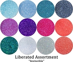 Invincible (12 colors) :Liberated Glitter Assortment