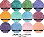 Pastel Panache (12 colors) :Liberated Glitter Assortment