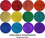 Rainbow Flux (12 colors) :Liberated Glitter Assortment