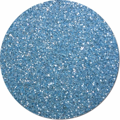 Light Blue Luster Craft Glitter (fine flake)- 3/4 oz Jar