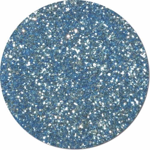 Light Blue Luster Craft Glitter (chunky flake)- 3/4 oz Jar