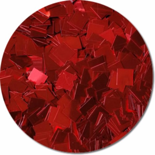 A Very Merry Red Craft Glitter (Mammoth Squares)- 4 oz. Jar