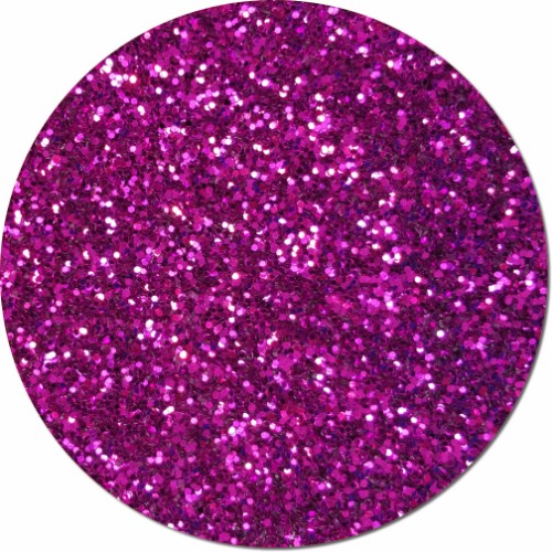 Magenta Magic Craft Glitter (chunky flake)- 4 oz. Jar