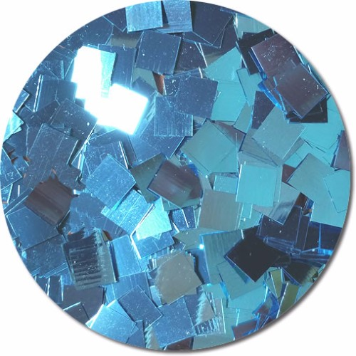 Blue Dazzle Craft Glitter (Mammoth Squares)- 3/4 oz Jar