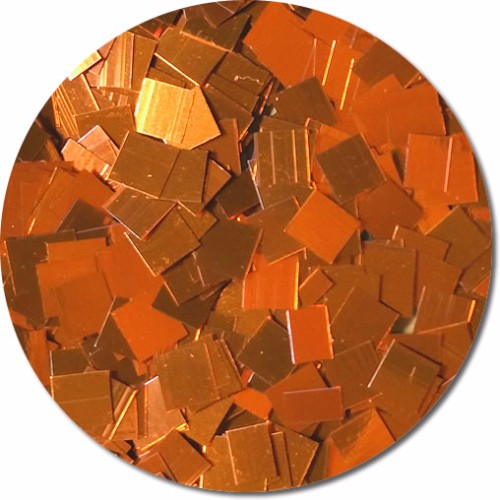 Carrot Orange Craft Glitter (Mammoth Squares)- 4 oz. Jar
