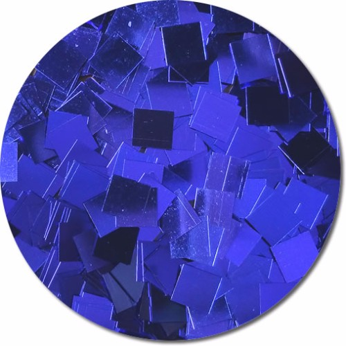 Crystalline Cobalt Craft Glitter (Mammoth Squares)- 3/4 oz Jar