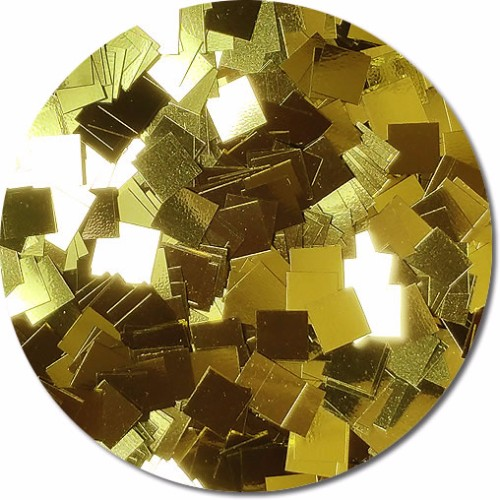Gold Bullion Craft Glitter (Mammoth Squares)- 4 oz. Jar