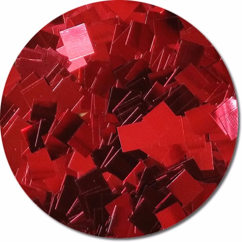 Red Apple Radiance Craft Glitter (Mammoth Squares)- 3/4 oz Jar