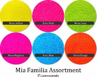 Fluorescent (6 colors) :Mia Familia Glitter Assortment