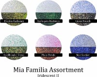 Iridescent II (6 colors) :Mia Familia Glitter Assortment