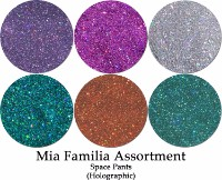 Space Pants Holographic (6 colors) :Mia Familia Glitter Assortment