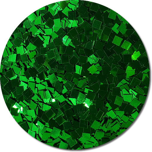 Oz's Emerald City Craft Glitter (Colossal Squares)- 3/4 oz Jar