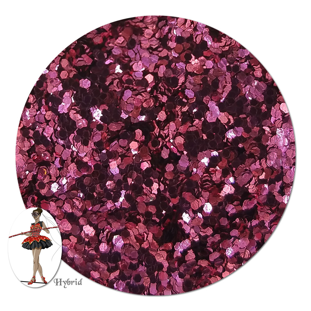 Passion Pink Metallic Hybrid Glitter (chunky)- By The Pound