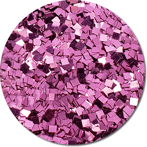 NEW Perfect Pink Craft Glitter (Colossal Squares)- 3/4 oz Jar