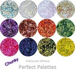 Chunky Iridescent (12 colors):Perfect Palette Glitter Assortment