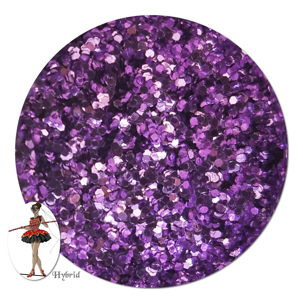 Purple Paradise Metallic Hybrid Glitter (chunky)- 8 oz. Jar